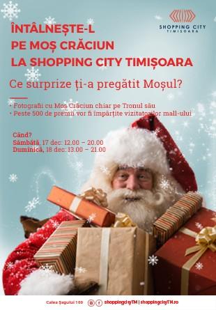 Întâlnește-l pe Moș Crăciun la Shopping City Timișoara!