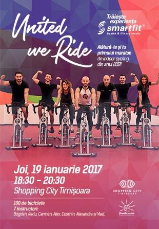 United we Ride: Alătură-te și tu primului maraton de indoor cycling din 2017!