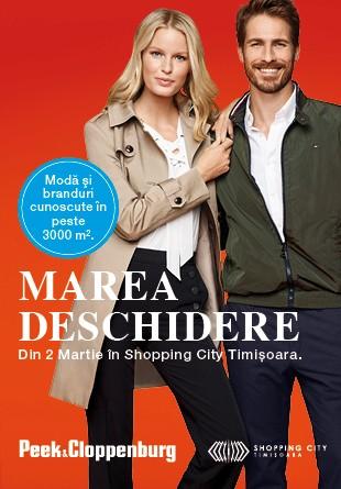 EXCLUSIV ÎN TIMIȘOARA: Din 2 martie, Peek & Cloppenburg îți aduce sute de branduri de lux, doar la Shopping City Timișoara!