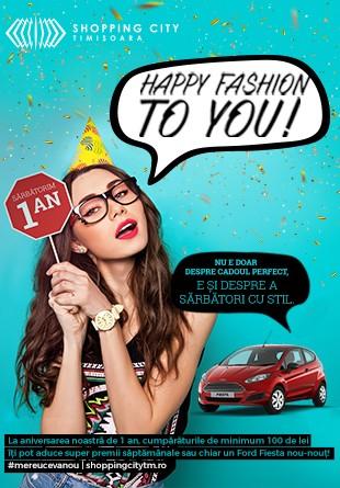 Sărbătorim 1 AN de Shopping City Timișoara cu super premii și un Ford Fiesta!