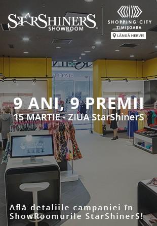 Tombolă Aniversară StarShinerS: 9 ani, 9 premii!