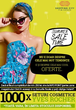 SUMMER SALE: La Shopping City Timișoara, cumpărăturile la reduceri îți aduc un CADOU garantat!